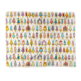 Sharon Turner retro rockets eggshell Throw Blanket