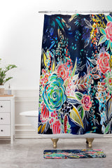 Stephanie Corfee Night Bloomers Shower Curtain And Mat