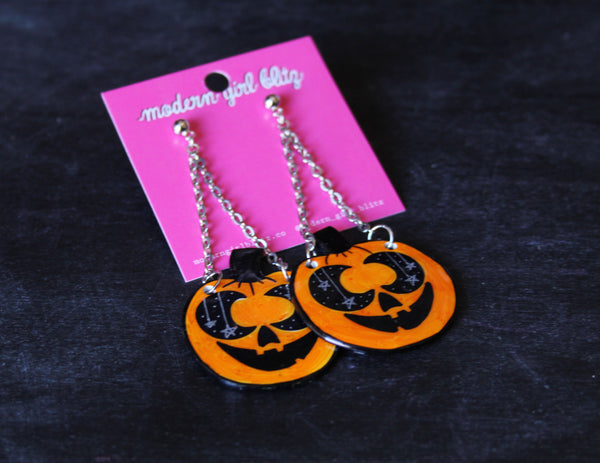 Moon o Lantern Dangle Earrings