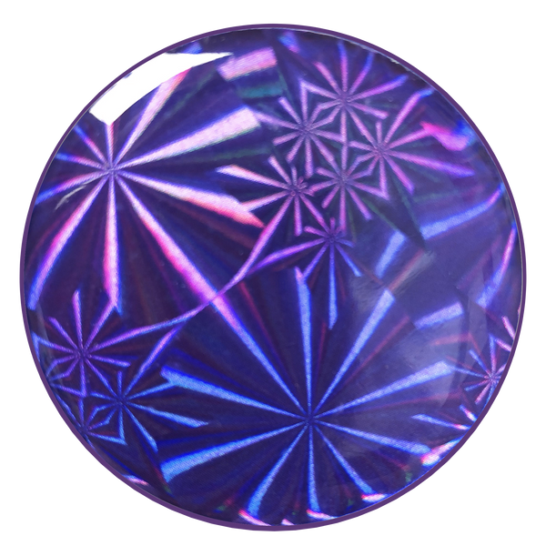 nuckees Gels Phone Grip - Violet Stars Hologram