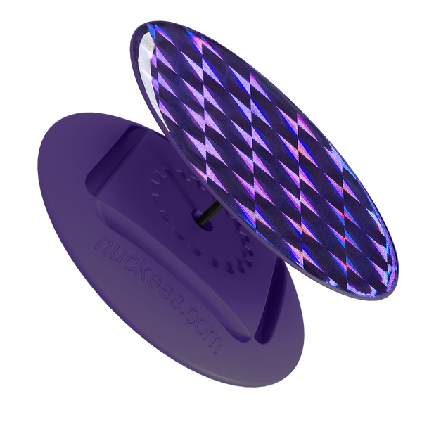 nuckees Gels Phone Grip - Violet Hologram