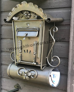 Wrought Iron Wall Mount Mailbox