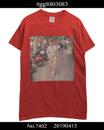 #gg8803083 / Chinese Cool Photo Print Cutsew / 7402 - 0415 47.5