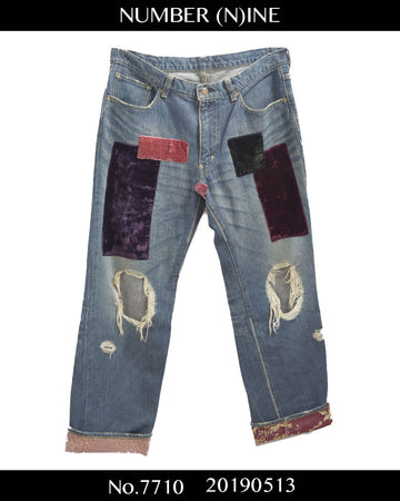 NUMBERNINE / 《 Touch me I'm sick 》 Kurt Cobain Denim Pants / 7710 - 0513 135.5