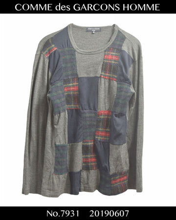 COMME des GARCONS HOMME / Hybrid Patchwork Knit Sweater / 7931 - 0607 80.5