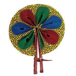 African Fan  - Red/Yellow/Blue/Green