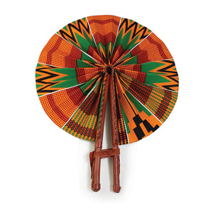 African Fan  - Orange Kente