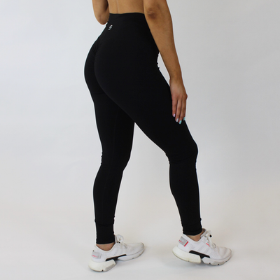 Mantra Scrunch Leggings - Black - Skywear