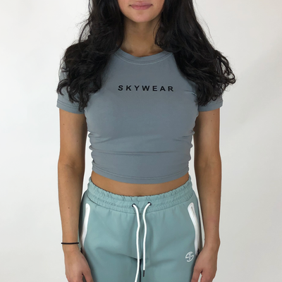 Crop Tee - Light Grey - Skywear