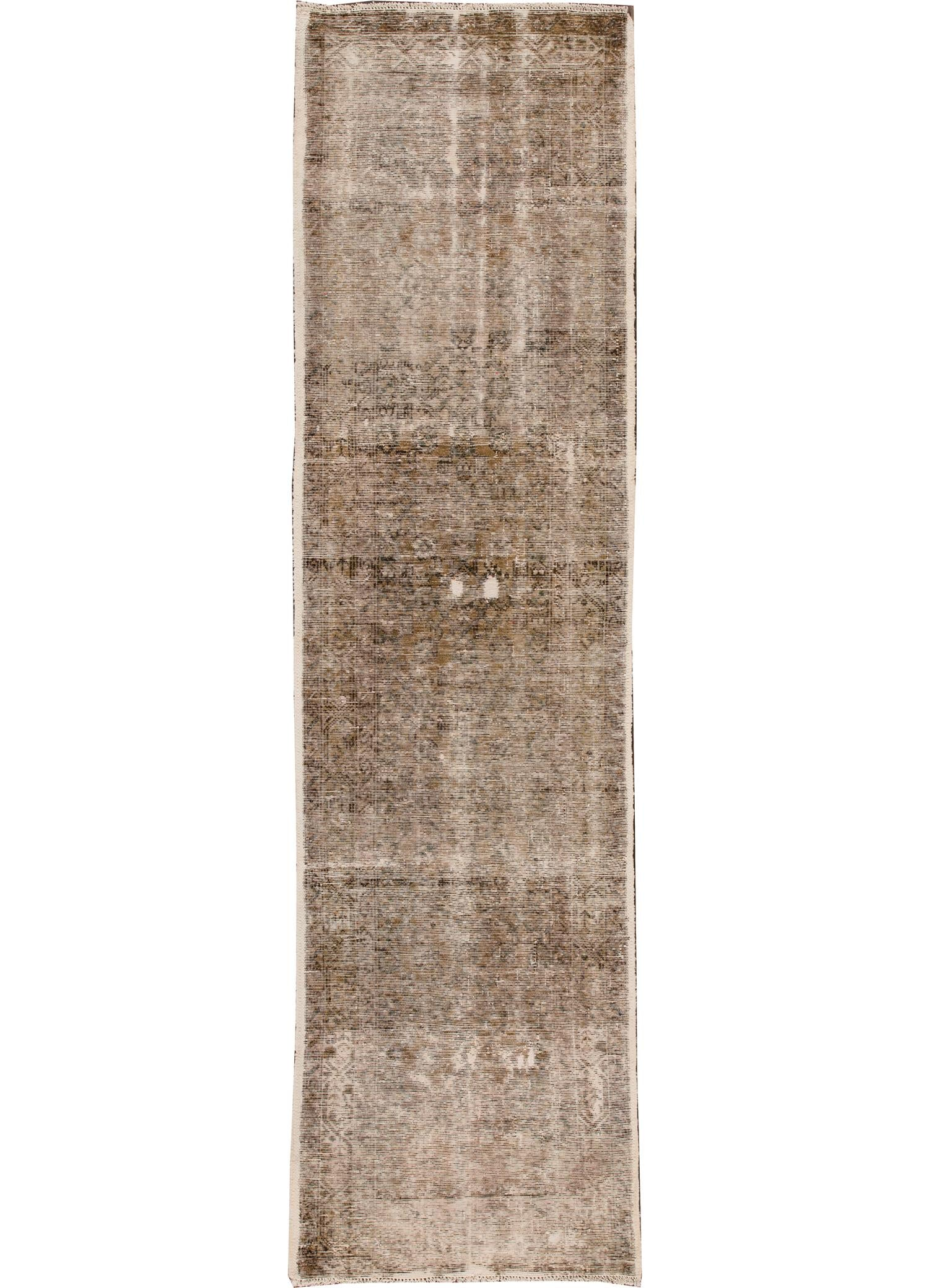 Vintage Distressed Kerman Rug, 3X10