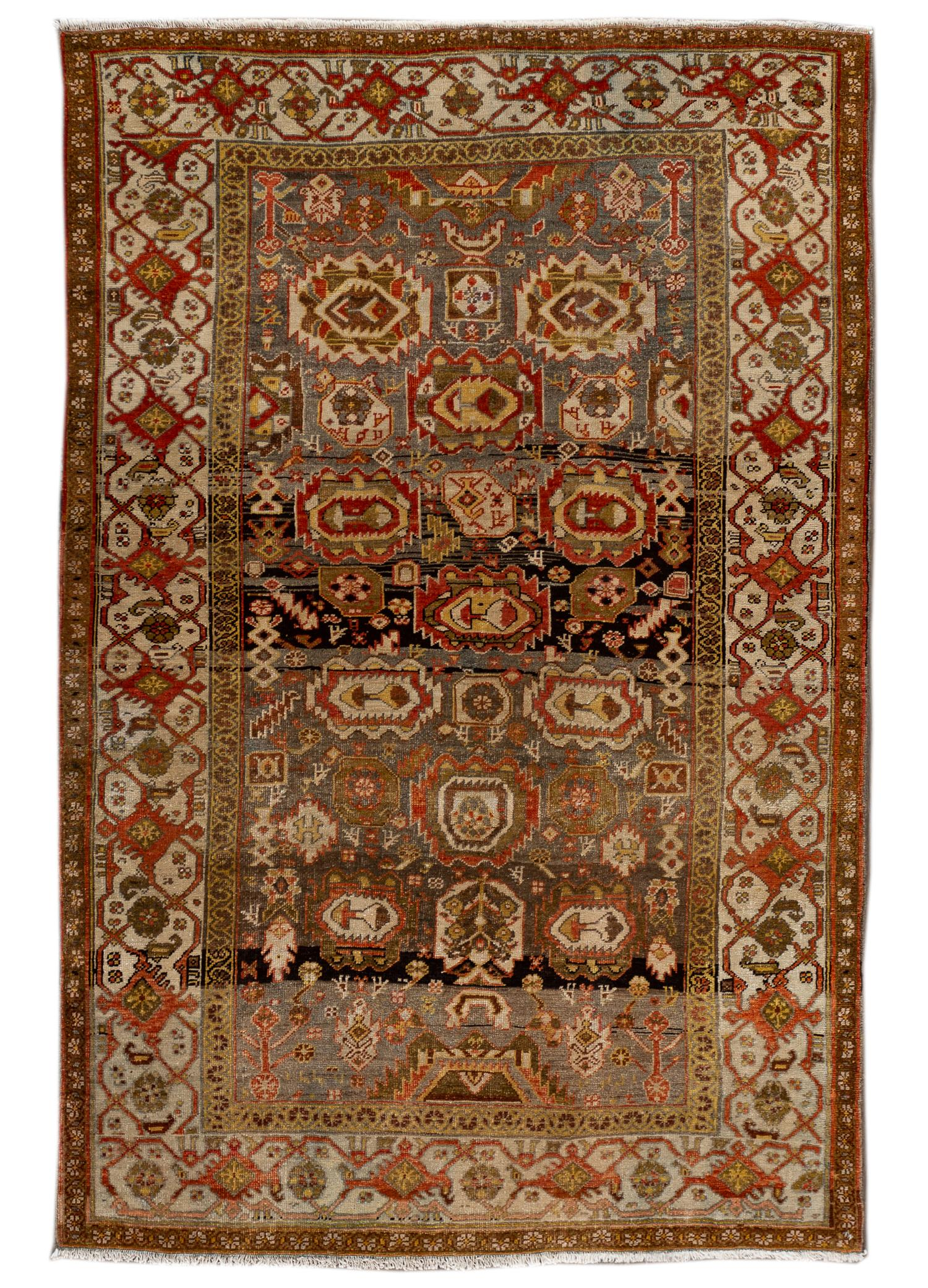 Antique Bidjar Rug, #10235257, 4' x 7'