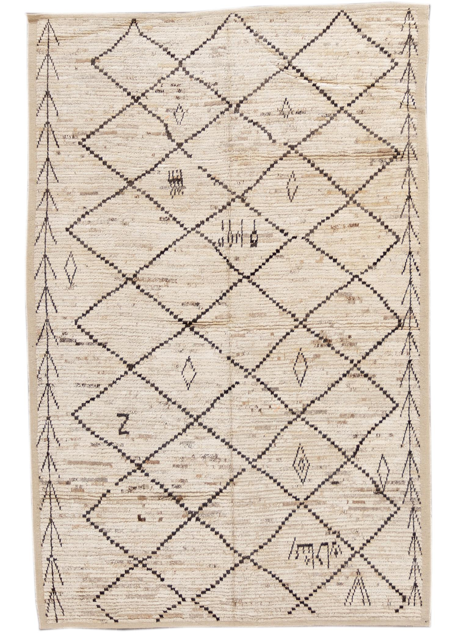 21st Century Modern Moroccan Style Rug, 6' x 10'