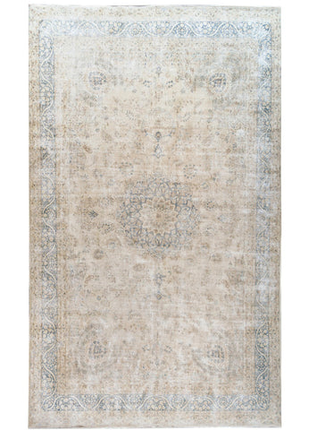Early 20th Century Vintage Distressed Over-Sized Rug