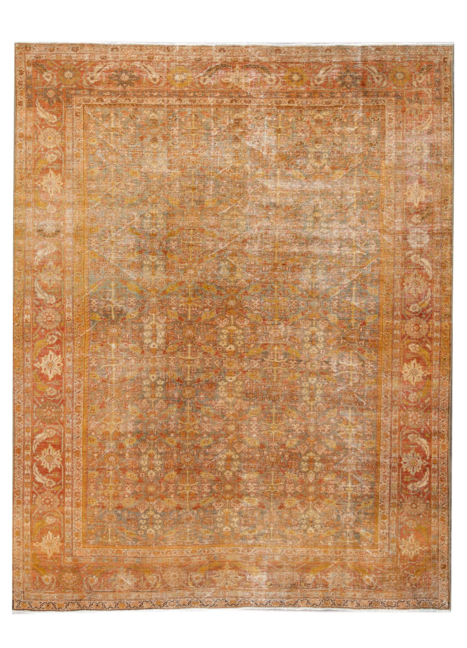 Antique Sultanabad Rug, #10235245, 9' x 11'