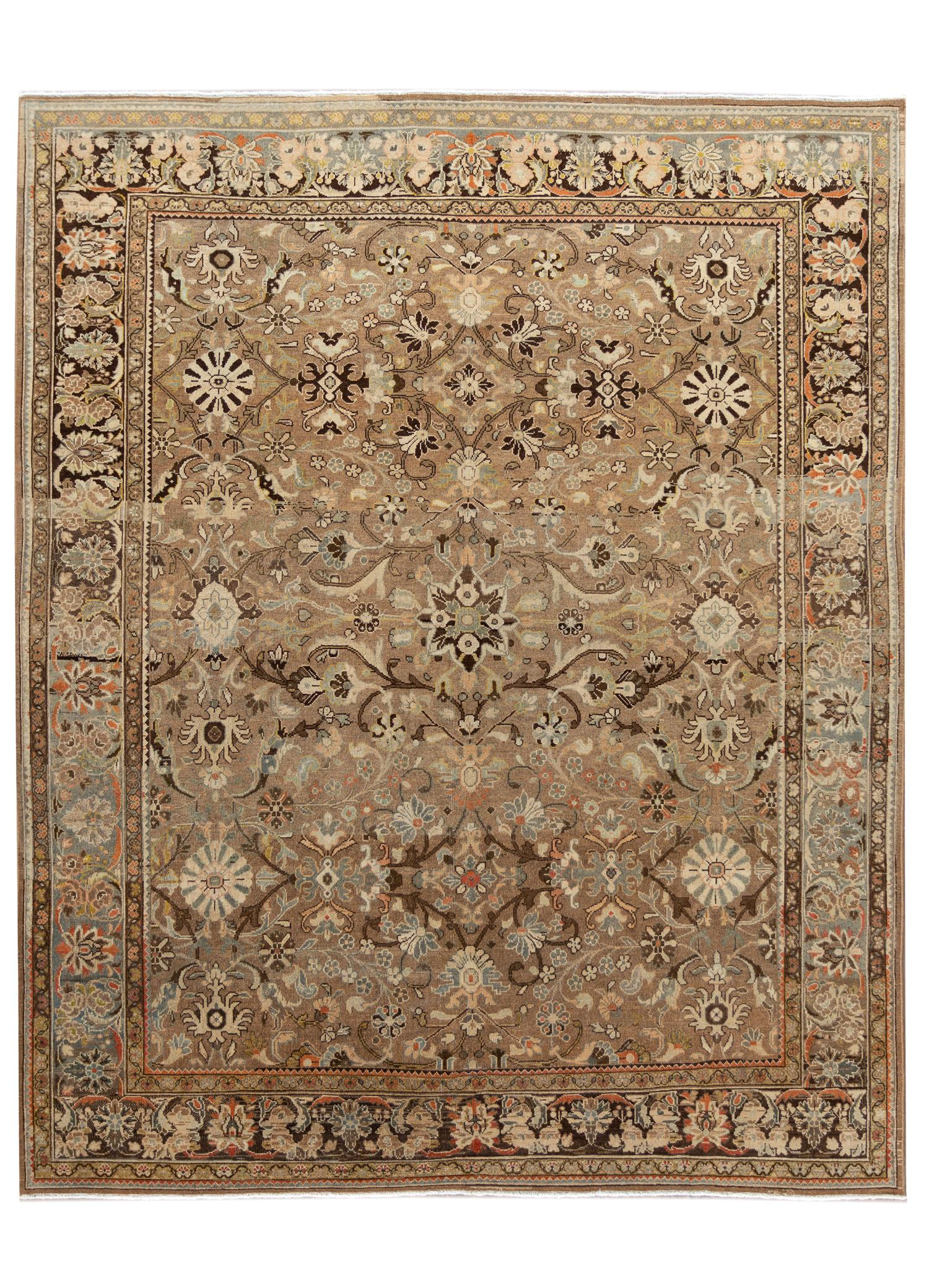 Antique Sultanabad Rug, #10235246, 9' x 11'