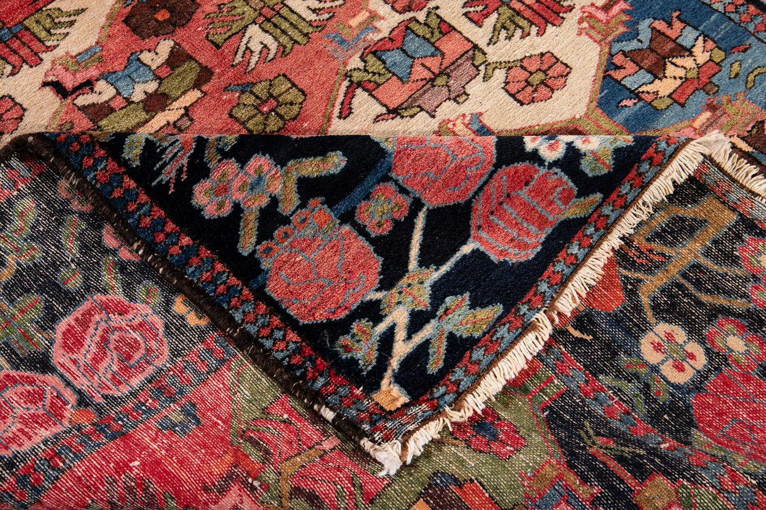 Antique Early 20th Century Bakhtiani Rug 5' x 7'