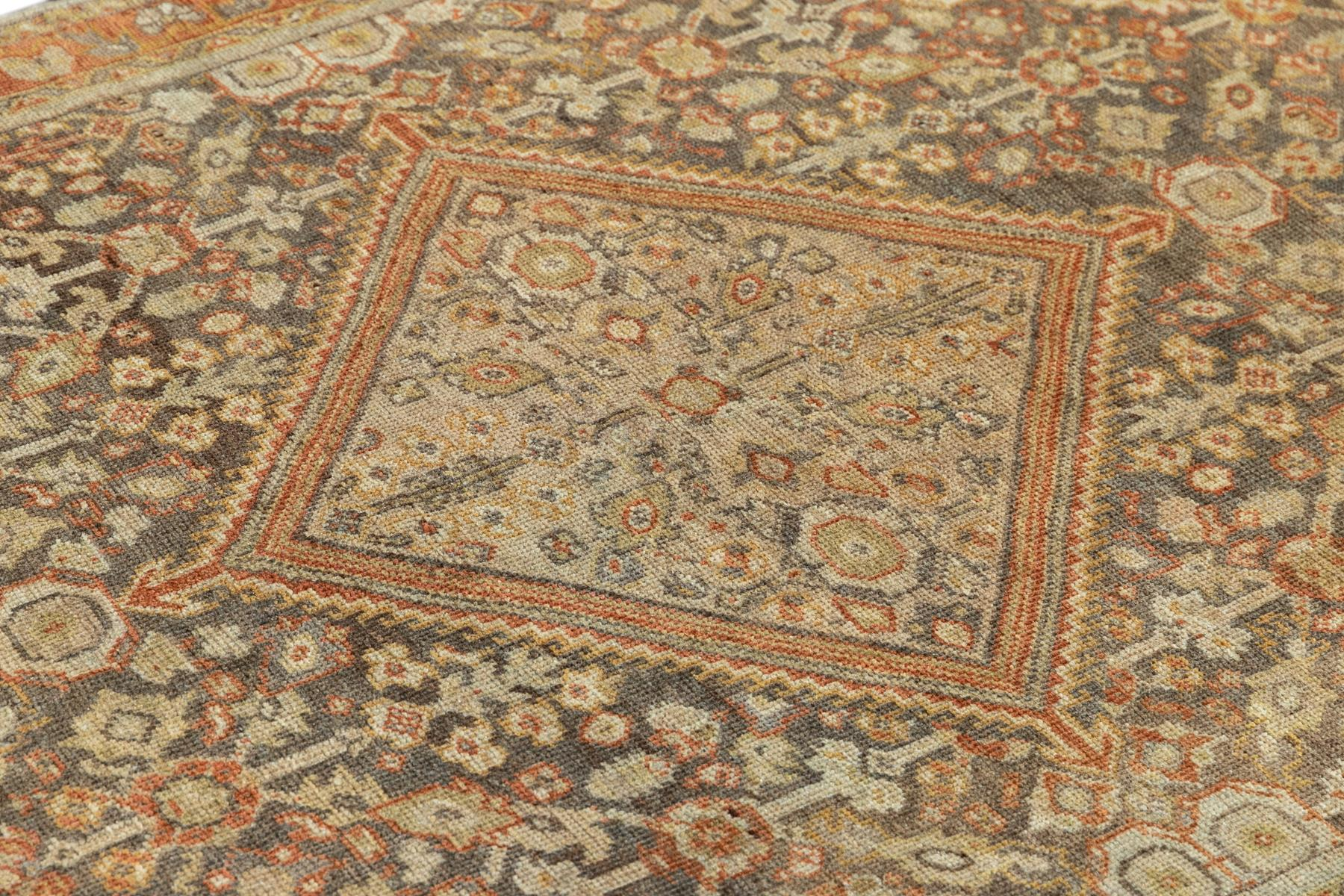 Antique Mahal Rug, #10235264, 5' x 7'