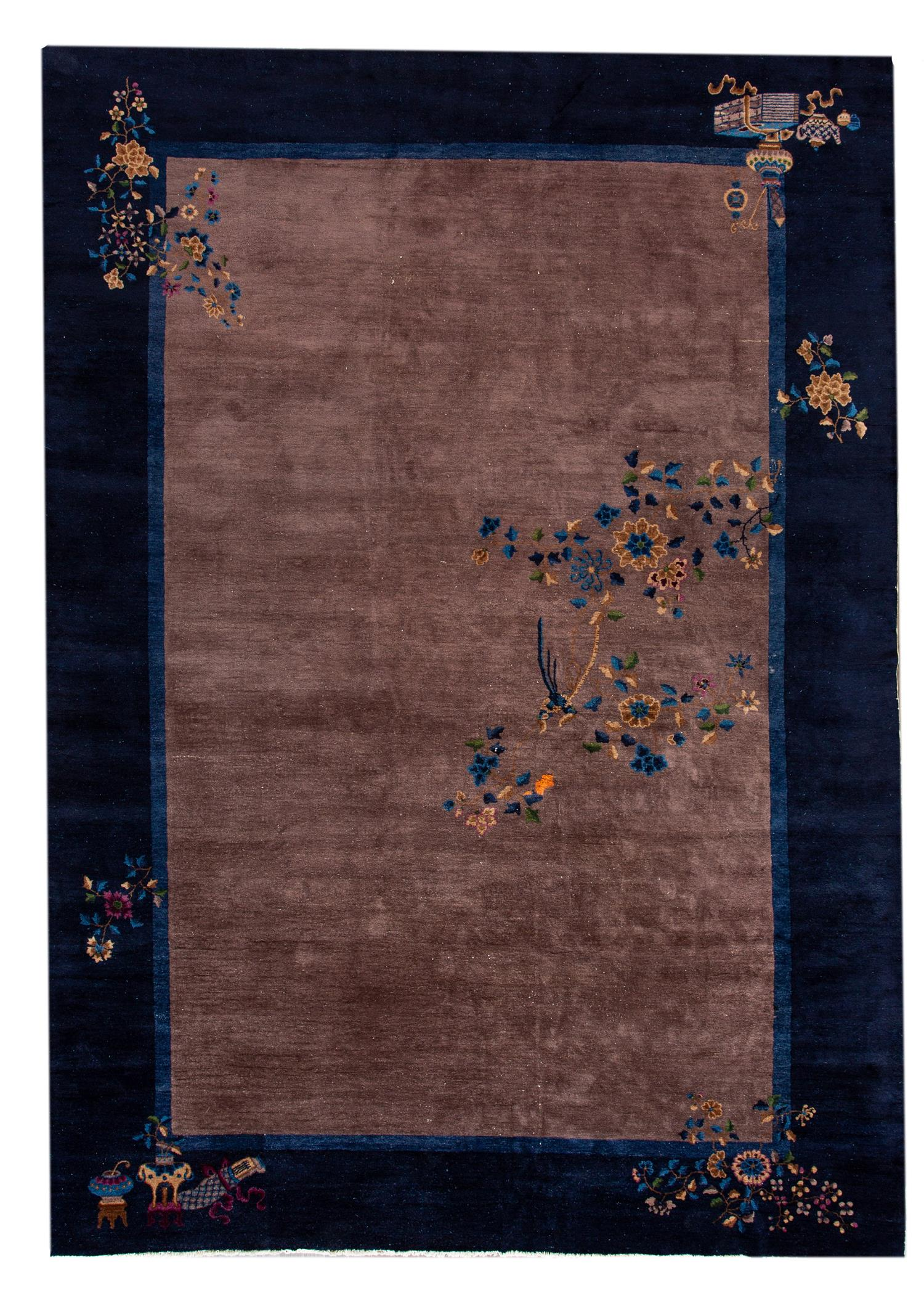 Antique Chinese Deco Rug, 10X14