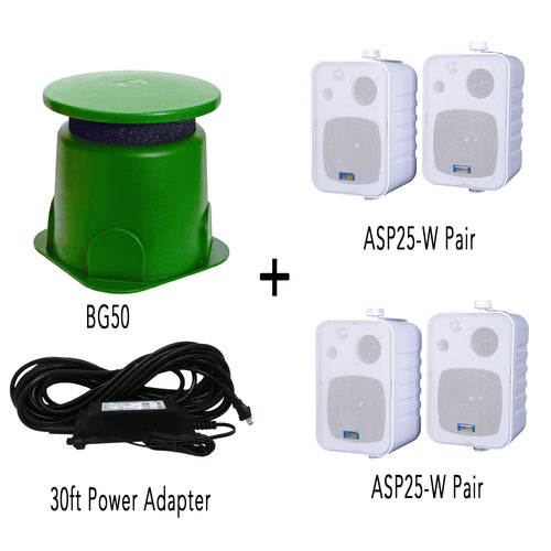 BG50&2xASP25(WHITE) BUNDLE