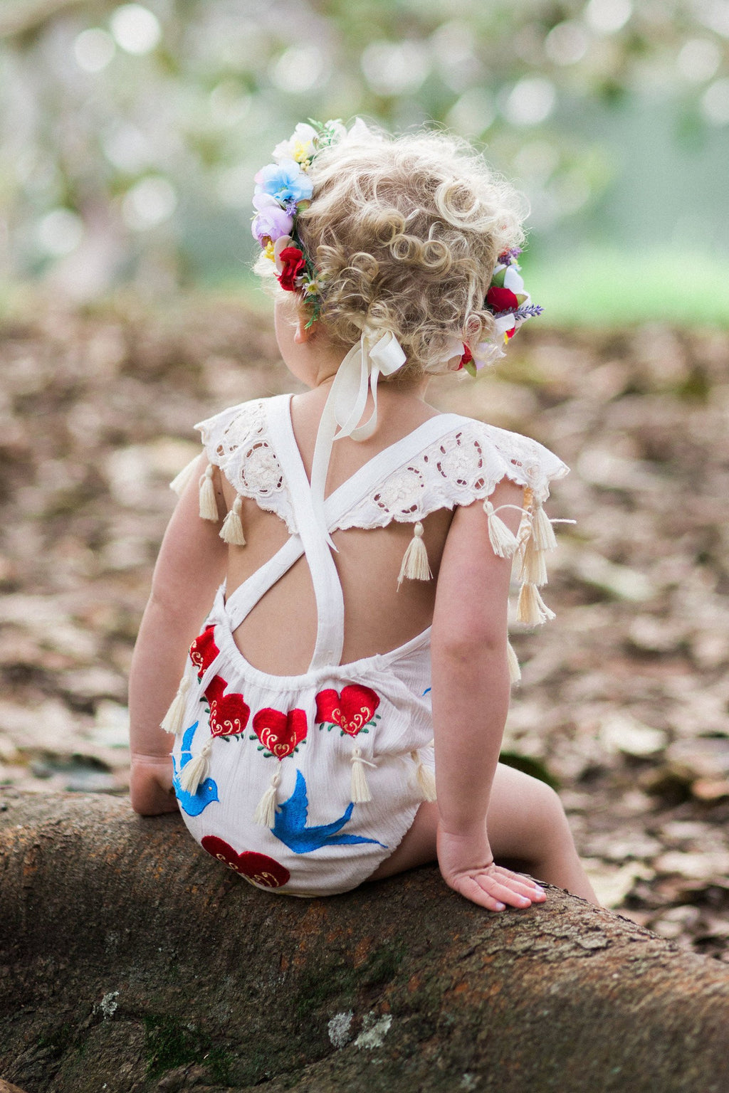 Fillyboo Mini - 'Little Bear' Playsuit - Ivory