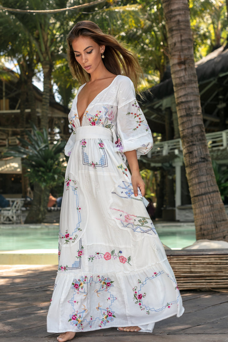 Fillyboo - Dream In Colour - Embroidered Maxi Dress