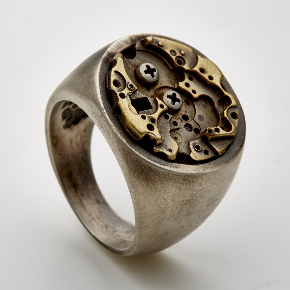 Time Rust-Silver-Ring