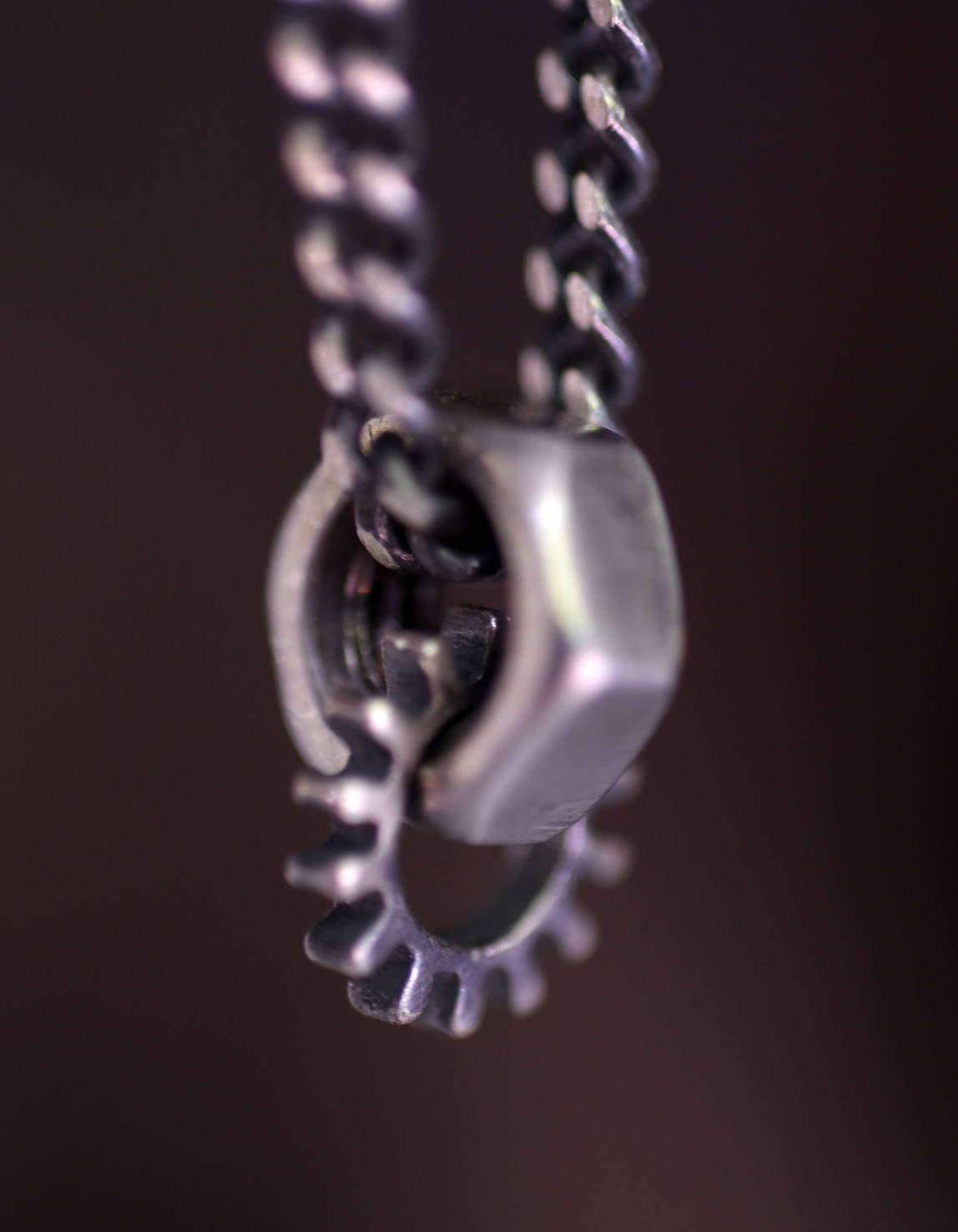 Gear in me-Silver-Necklace