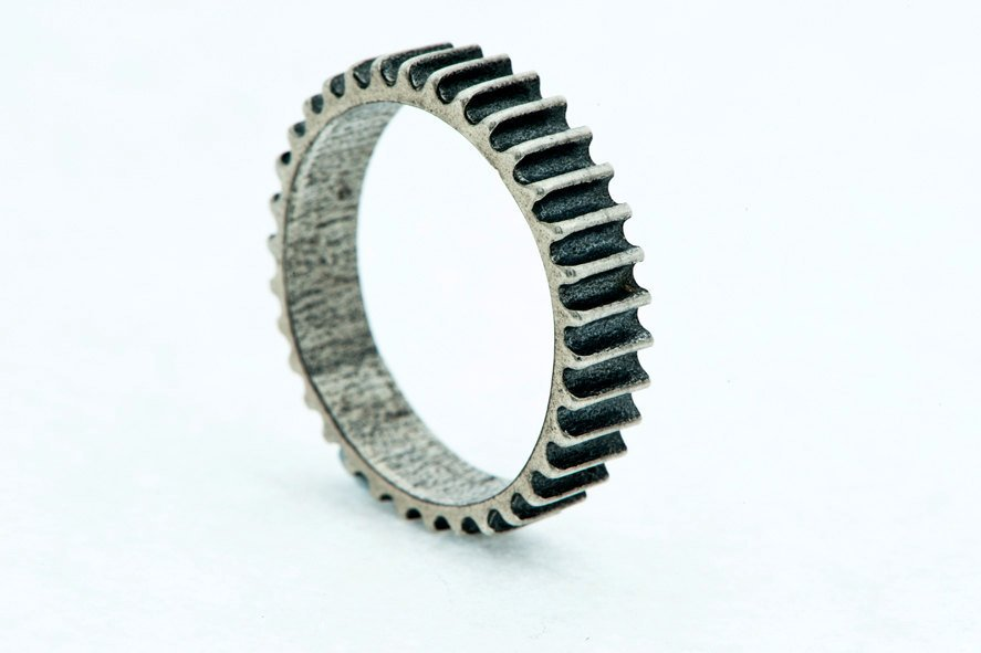 Triple Cog-Silver-Ring