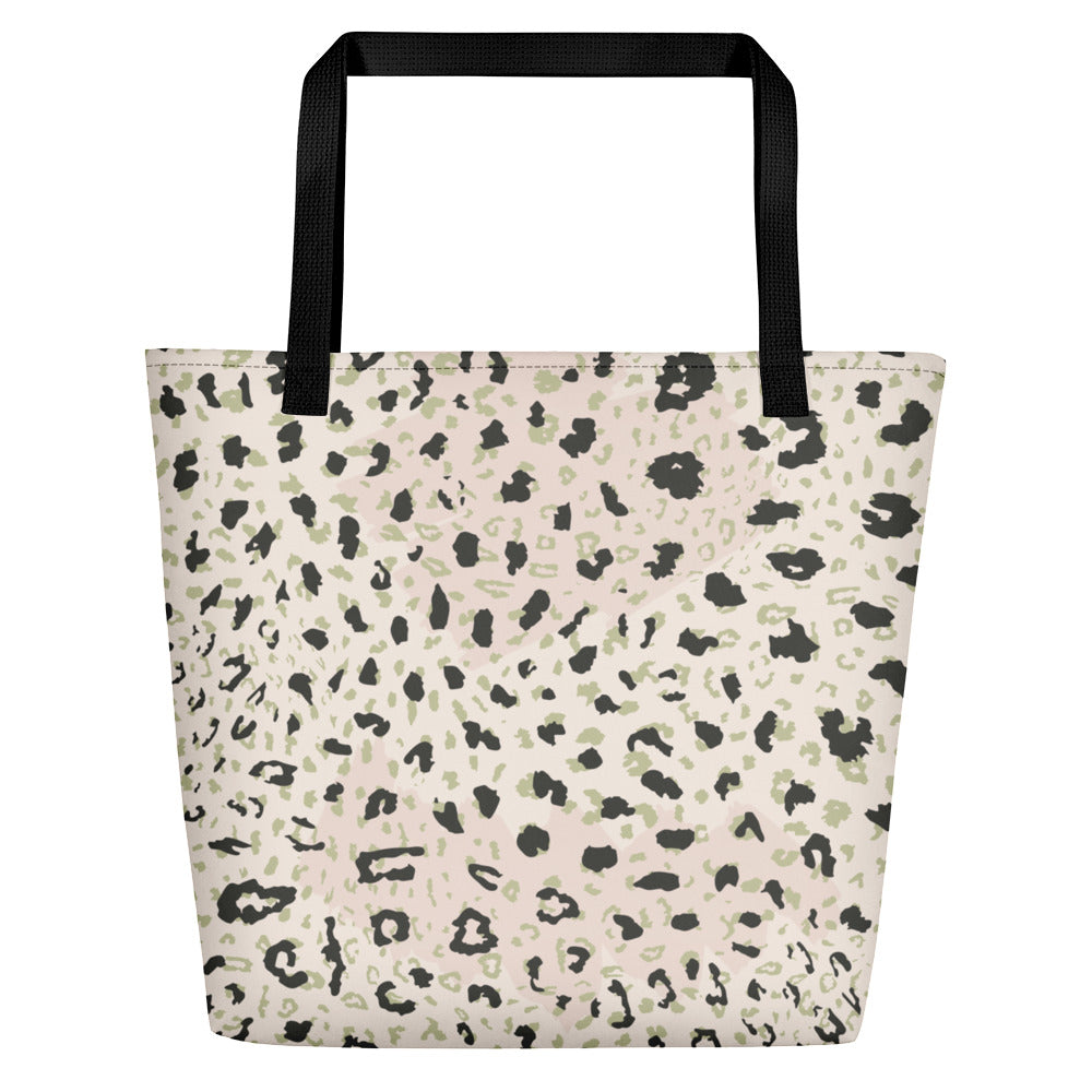 Blush Leopard Beach Bag