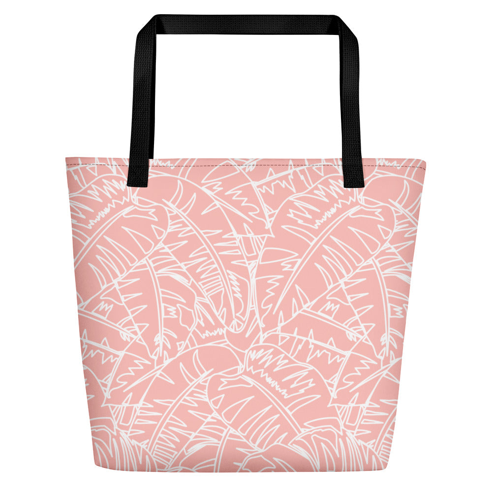 Blush Palm Beach Bag