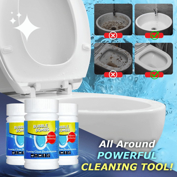 【LAST DAY 50% OFF + BUY 2 GET EXTRA 10%OFF】ALL-PURPOSE QUICK FOAMING TOILET CLEANER