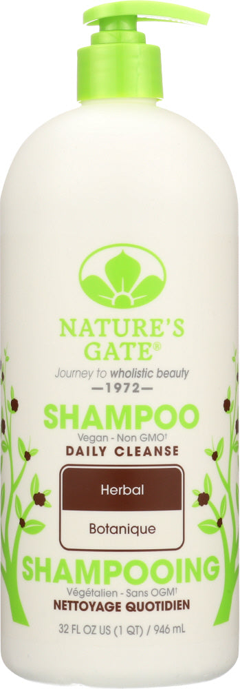 NATURES GATE: Daily Cleanse Herbal Shampoo, 32 Oz