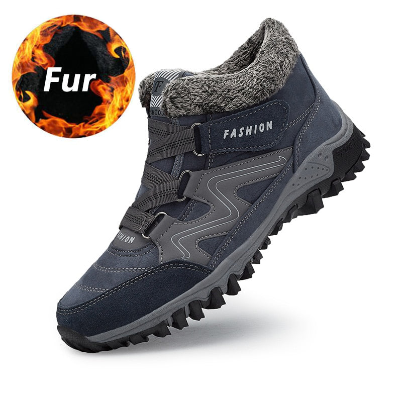 Warm Snow Winter Work Footwea Rubber Ankle Shoes 39-46 - Habazoo