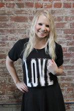 Load image into Gallery viewer, Zenana LOVE Short Sleeve Black