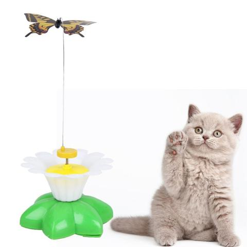 Electric Rotating Butterfly Cat Toy - Interactive Bird Toy