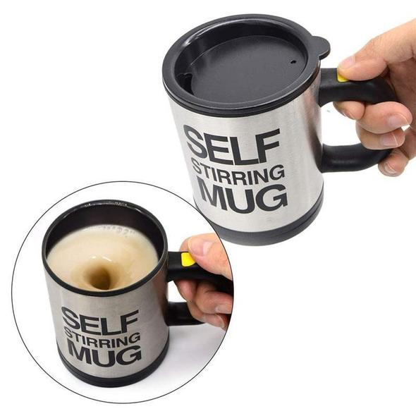 Self-Stirring Electric Coffee Mug