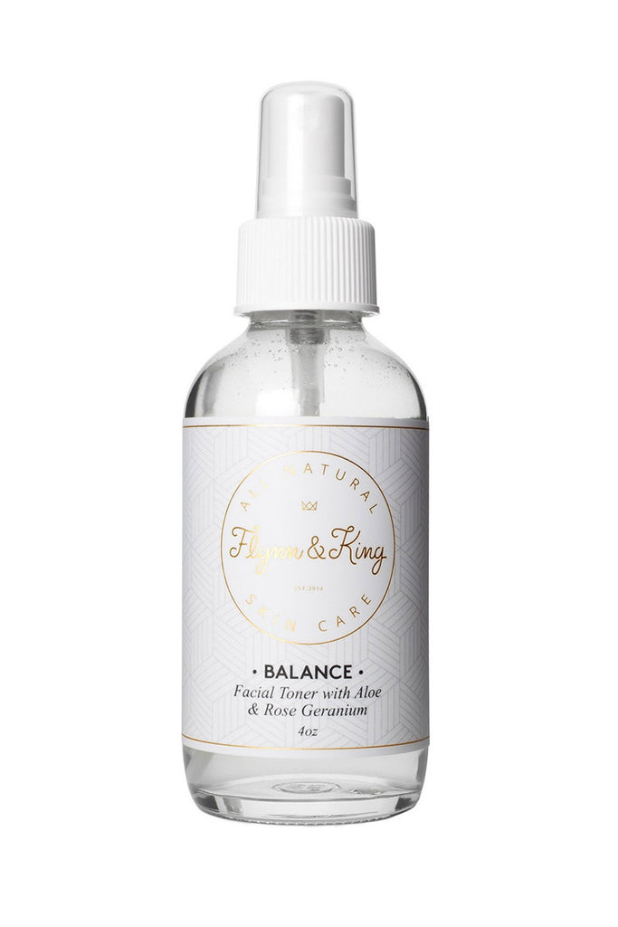 Flynn & King Balance - Facial Toner with Aloe and Rose Geranium, 4 oz bottle