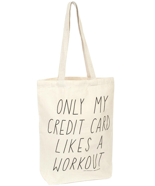 Talented Totes My Credit Card canvas tote