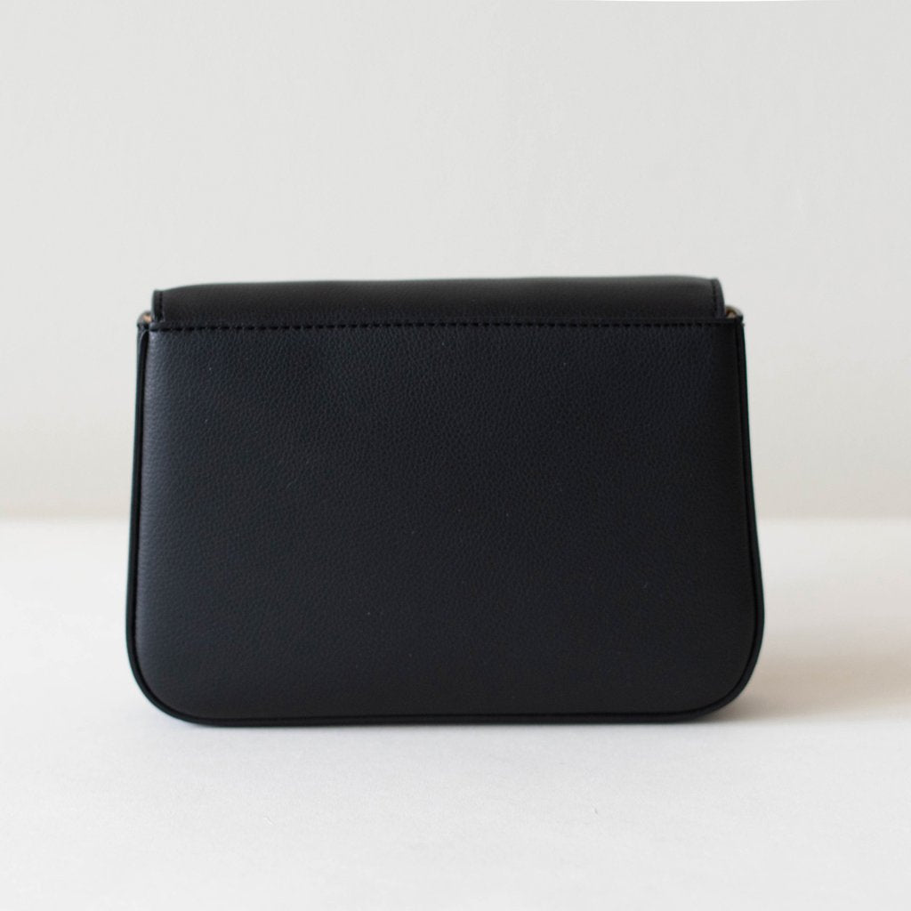 Angela Roi Vegan Hamilton Mini Chain Cross-body in Black, back view
