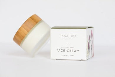 Samudra Skin & Sea Face Cream, bottle and packaging