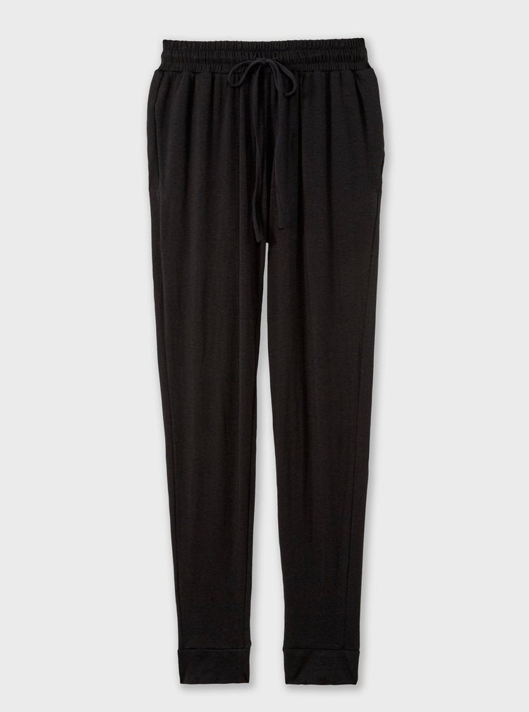 The High Waisted Sustainable Jogger in black