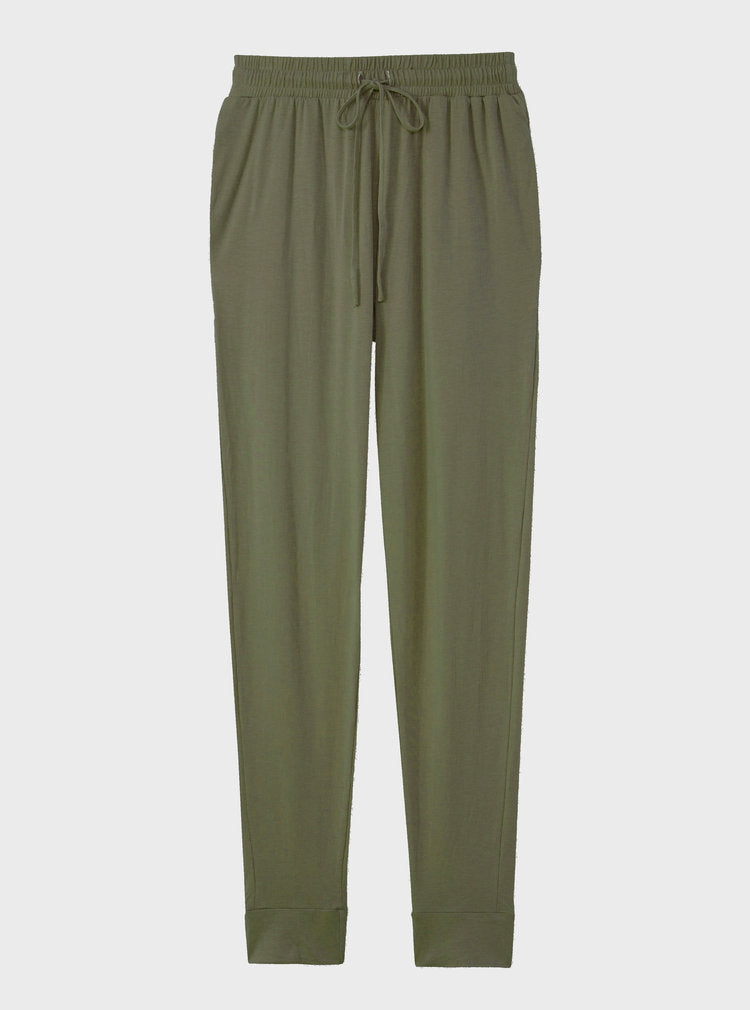 The High Waisted Sustainable Jogger in olive
