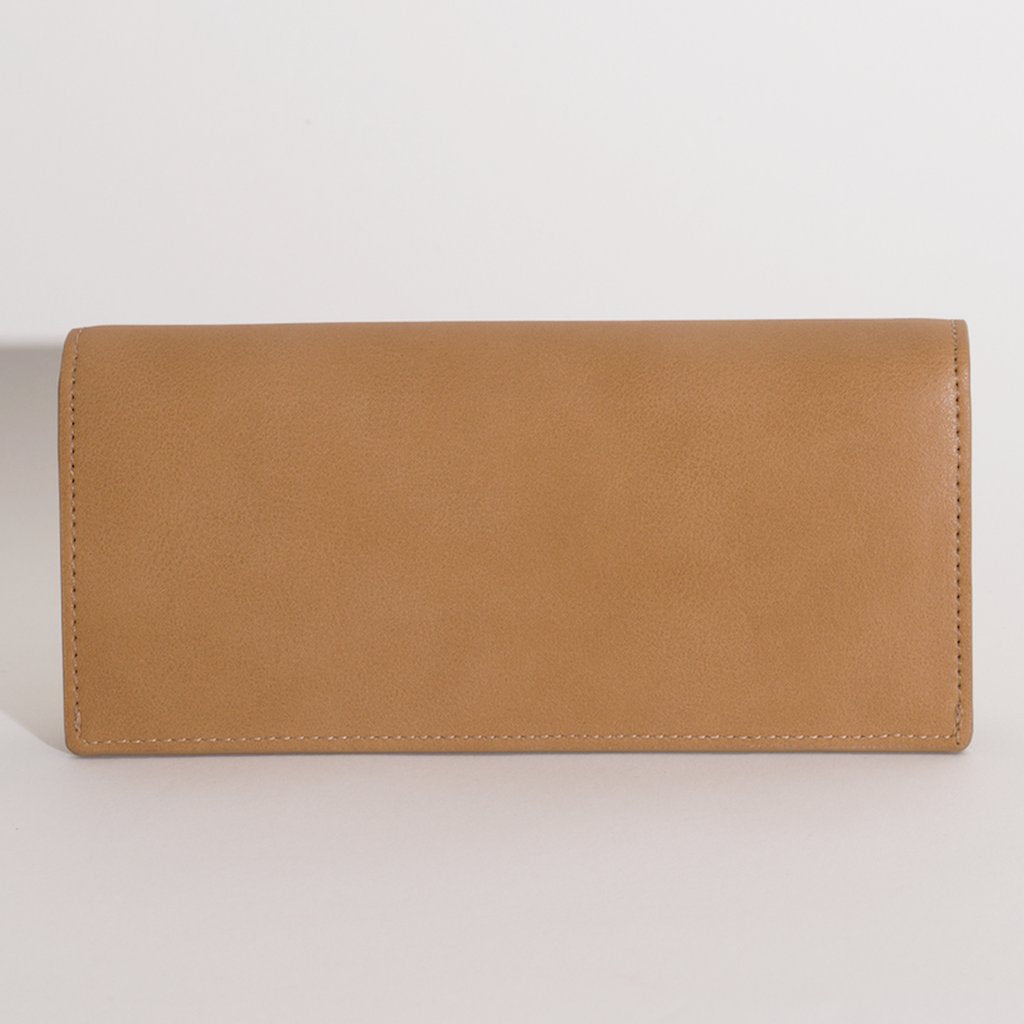 Olivia Slim Wallet in Beige back view