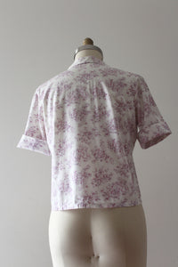 vintage 1950s novelty rococo blouse