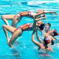 Synchronized Swimming Show Prep