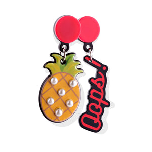 Tropical Oops Miss Match Earrings - Cherry Cherry