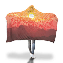 Load image into Gallery viewer, Desert Sunset Mandala Hooded Blanket