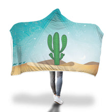 Load image into Gallery viewer, Cactus Sunset Hooded Blanket
