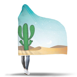 Cactus Sunset Hooded Blanket