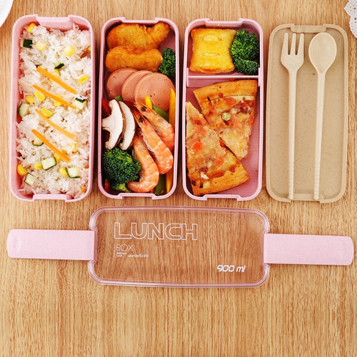 Eco-Friendly 3-Layer Bento Lunch Box